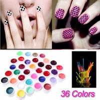 Wholesale NEW Color UV Gel For Nail Art Mix Pure Buliding Polish Set Solid Pigment Builder Acrylic Tips Glue Manicure