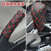 Wholesale one set white red color new Hand Brake Case Gear shift case car interior fittings accessories gifts