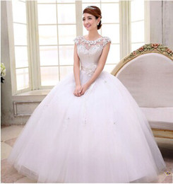 Wholesale new arrival hot sale fashion specials spike bride diamond straps princess lace trailing flowers elegant white sweety wedding dress
