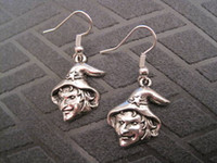 antique brass earrings - Earring Antique silver UGLY WITCH Earrings NEW silver Fishhook Ear Wire ab9