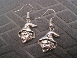 Wholesale Earring Antique silver UGLY WITCH Earrings NEW silver Fishhook Ear Wire ab9