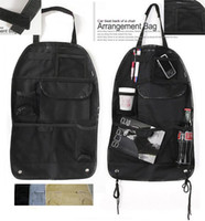 Wholesale Car Back seat organizer Pocket Storage Organiser Arrangement Bag drapery sample