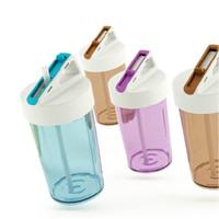 beautiful water bottles - OP ML Capacity Creative plastic water bottle With Straw children water bottle Plastic straw bottle with beautiful transparent