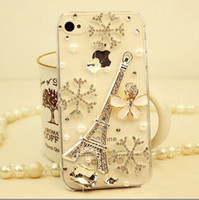 Wholesale iphone4S diamond phone shell mobile phone sets Apple G Eiffel Tower diamond shell a generation of fat