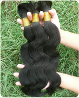 Wholesale Popular style body wave human virgin bulk hair nature black inches vrigin Malasyian human hair extension