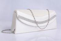 beaded garments - Bridal Hand Bags In Stock Elegant Beadings White Bridal Hand Bags Wedding Favor Bags Bridal Garment Bags with Folds