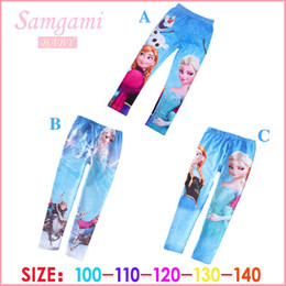 Wholesale 2014 new arrivel best price ice and snow Elsa Anna girls children leggings long pants trousers