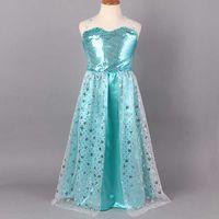 2014 size 110- 150 Frozen Elsa costume princess evening dress...