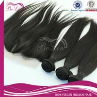Cheap Bolinhair 6a grade 3 part lace frontal closure with bundles human hair weave brazilian virgin hair straight with closure black 4 pcs lot