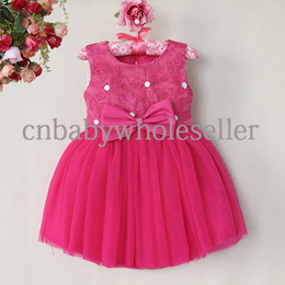 New Fall Girls Patry Dresses Hot Pink Petal Polyester Top With Diamontes Kids Princess Dresses For Girls GD40814-6