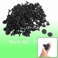 Cheap Free Shipping: 100 Pcs Auto Hole Black Plastic Rivet Fastener Fender Bumper Push Clip K125