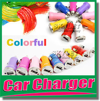 bullets - For Iphone USB Car Charger Colorful Bullet Mini Car Charge Portable Charger Universal Adapter For Iphone5 S Pieces DHL