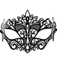 craft and party supplies - 10 DHL Woman Venice Style Metal Laser Cut Craft Metal Mask Masquerade Ball Masks Festive and Party Supplies