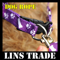 Wholesale New dog chain pet traction rope nylon leash harness chest collar drawing neck lead strap