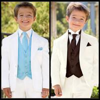Wholesale Notch Lapel Kid Tuxedos Suits Boy s Special Occasion Clothes