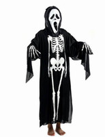 Wholesale Halloween Costumes Party Skeleton Ghost Garments Adult Children Skeleton Clothing Props