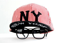 Wholesale Adjustable Fashion Baseball Caps New York Hat NY Stripe Snapback Cap Men Basketball Football Hip Pop Hats colors Free DHL Factory Price