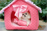 Wholesale Free Shiping Pet Bed Pet House Dog House Collapsible Pet Pink House For Pet Dog Cat Luxury Pet House