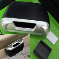Wholesale Mini Auto Car Trash Rubbish Can Garbage Dust Case Holder Box Bin Black