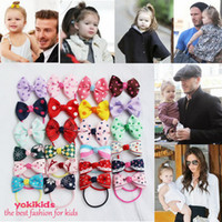 fashion hair circle - Polyester Bow Knot Hairbands Solid Color Strip Plaid Pattern Multi color Hair Ring Appealing Head Wear Cute Fashion Vintage Hair Circles