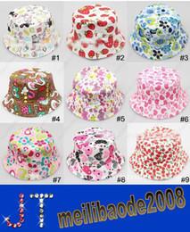 Wholesale 2014 New Fashion Baby sunhats Children bucket hat kids flower casual caps HSA0506