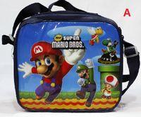 backpack lunch bags - Hot Sell Children s Super Mario Bros Cartoon Lunch Box Set Nylon Kids Boys Girls Cartoon Lunch bag