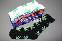 Wholesale Plantlife socks cheap streetwear men women cotton skateboard sport Hemp Leaf sock for Christmas gift