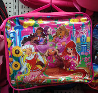 backpack lunch bags - Hot Sell Children s Winx Club Cartoon Lunch Box Set Nylon Kids Boys Girls Cartoon Lunch bag