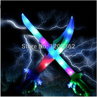 motion activated sound - OP Ninja Pirate Colorful Flashing Music Led Sword Cutter Kids Baby Light Up Toy Motion Activated Sound