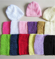 Cheap 15 styles 2014 Chic Cute Colored Baby Girl 9 Inch Crocheted Tube Tops Kids Crochet Chest Wraps Wholesale Headwear frozenc330 150pcs