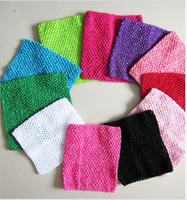 Cheap 15 styles 2014 Chic Cute Colored Baby Girl 9 Inch Crocheted Tube Tops Kids Crochet Chest Wraps Wholesale Headwear frozenc330 500pcs