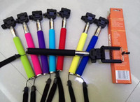 Wholesale 200PCS Hot Sell For iPhone Samsung HTC Digital Camera Universal CM Extendable Monopod Handheld Cellphone Holder with retail package