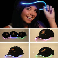 Wholesale Adjustable Fashion LED Flash Hats Korean Casual Baseball Caps Cotton Optic colors Tube Luminous Hat Women and Men Free DHL Factory Price