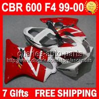 7gifts For HONDA CBR600FS CBR 600F4 CBR600F4 Red white 99- 00...