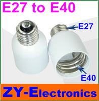 Cheap 10pcs E27to E40Light Lamp hoider Bulbs Adapter Converter NEW LED Halogen Light Bulb E27E40Lamp Adapter lamp holder&Free Shipping