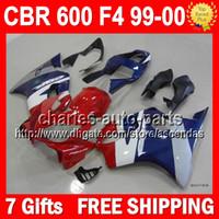 7gifts Red blue For HONDA CBR600FS CBR 600F4 CBR600F4 99- 00 ...