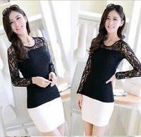 Wholesale 2014 New Fashion Spring Autumn Korean Ladies Style Slim Lace Blouse Women Tops shirt long sleeve shirt plus size Casual Blouse Women Tops
