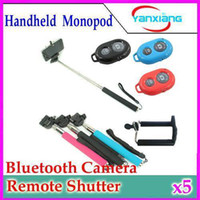 acc iphone - DHL Extendable Handheld Self portrait Monopod Self Photograph Bluetooth Shutter Camera Remote Controller for iPhone Samsung YX ACC