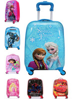 Wholesale Frozen Spider Man Transformers Cartoon pattern children luggage Bags H