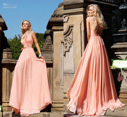 Promotion robe de conception de cristal courte Nouveau design en gros une ligne faite sur mesure robes de bal promenade gratuite en mousseline de soie boucle courte manches de robes de soirée longueur du plancher