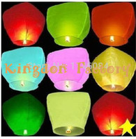 Wholesale Chinese Sky Lantern with Fuel Paper Kongming Flying Wishing Lamp For Wedding Party Balloons colors are available