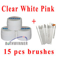 Wholesale OP Pink Clear White UV Gel Nail Polish Nail Art Builder Acrylic Gel Nail Art Design Painting Pen Polish Brush Set