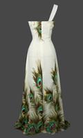 Cheap Wholesale - Unique Peacock Rhinestone Maxi Evening Gown Prom Dress S M L XL 18 Green