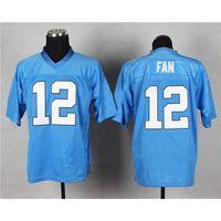 Football Men Short Cheap Football Jerseys Light Blue Seahwks #12 Fan Elite Jersey High Quality Discount American Football Uniforms Teams Football Shirts