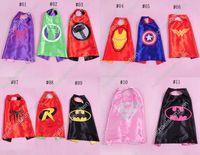 14 Styles 70cm Superhero Kids Superman Cape Superman Batman ...