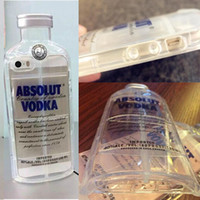 Wholesale ABSOLUT VODKA Wine Drink Bottle D Design Soft TPU Clear Case For iPhone S Shockproof Transparent Cover Diamond Colorful Back Skin