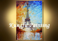 One Panel Oil Painting Abstract Handmade palette knife street painting living room pictures design for fabric painting wall art oil canvas tex2112