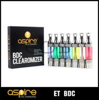 3.0ml Plastic Aspire Aspire ET BDC Clearomizer ET BDC Atomizer Bottom Dual Coil vaporizer Aspire ET BDC EGO Atomizer original best price replacement tank