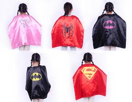 Wholesale 11 Styles cm Superhero Kids Superman Cape Superman Batman Spiderman Batgirl Robin kids Christmas Hallowe cape