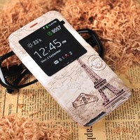 Wholesale Samsung S5 Taobao explosion models cartoon painted Eiffel Tower phone leather holster note3